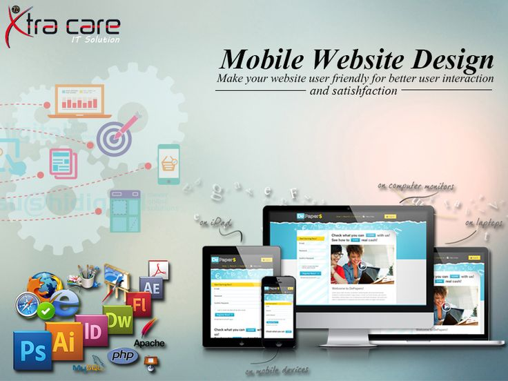 We are experienced in #mobile #web #design #company in #India since 2010. We are provided Mobile Web Design, Mobile Web Design, Mobile #Responsive #Design #Delhi, India. Please Visit the Site: www.xtracareit.com/pages/-Mobile-Website-Design-