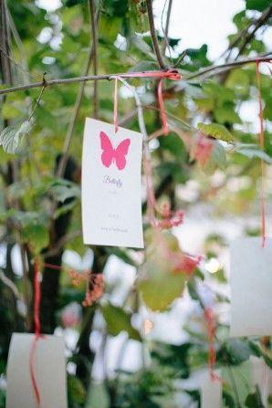 Un matrimonio ispirato alle farfalle