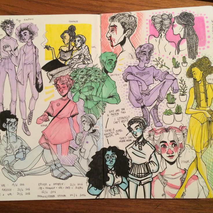 new sketchbook. pages so far