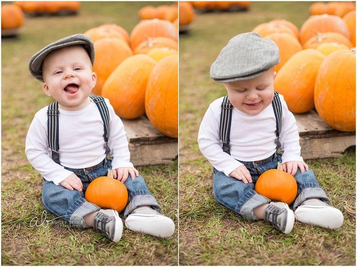 Baby boy 1st pumpkin patch   Punkin' Patch Babies   Atlanta Baby Photographer » Ashley Berrie Photography