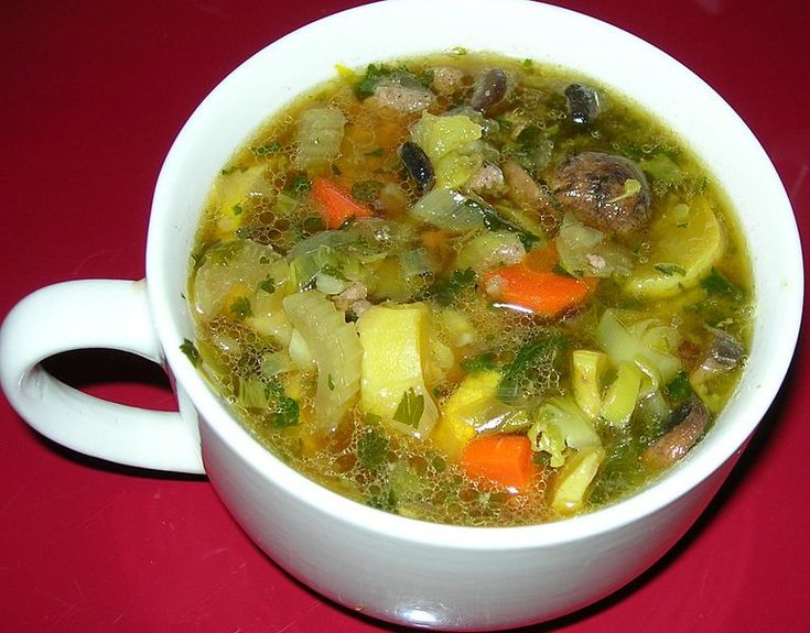 Vegetable Chicken Soup as a Meal