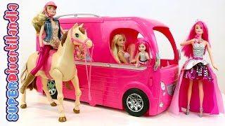 La Caravana de Barbie. Concierto, excursión con amigas y paseos a caballo! - YouTube