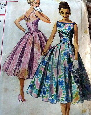 Lovely Vtg 1950s Dress Sewing Pattern 16 36 | eBay