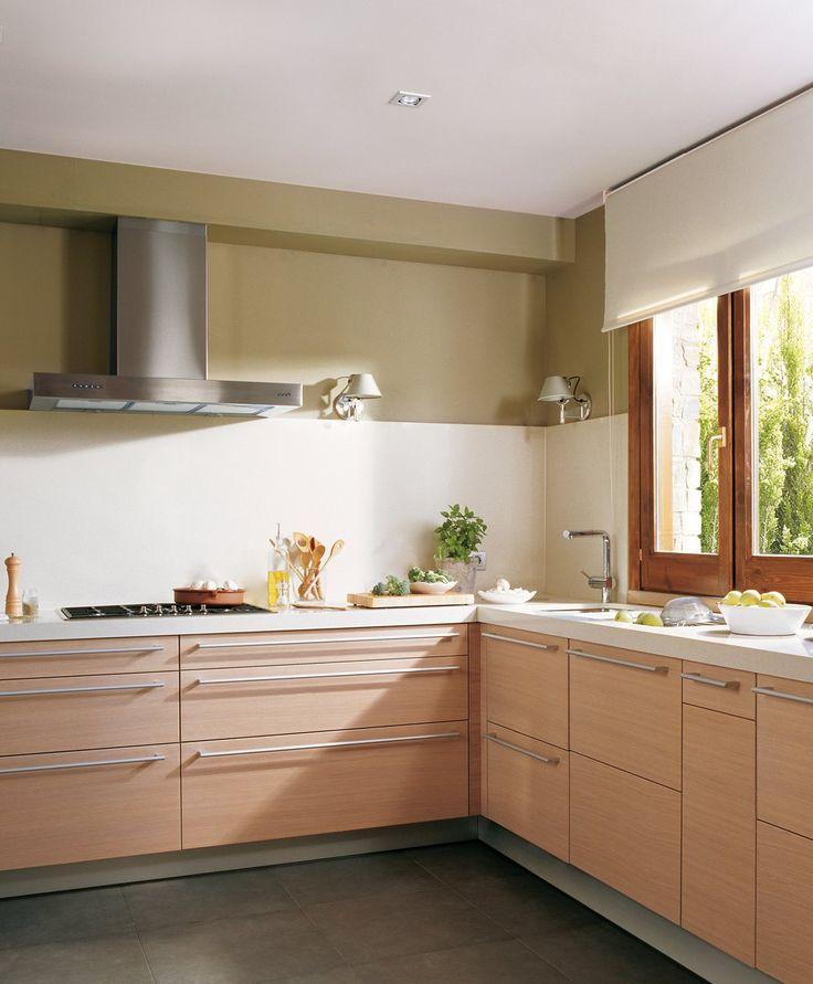 Las 25 mejores ideas sobre cocina en forma de l en - Cocinas pequenas cuadradas ...
