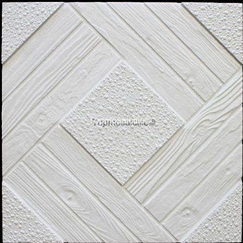 Panneaux De Dalles De Plafond De Polystyrène Duet (Paquet de 64 pcs / 16 m2) Blancs: QUALITÉ PREMIUM, TAILLE DE DALLE : 500 x 500 mm,…