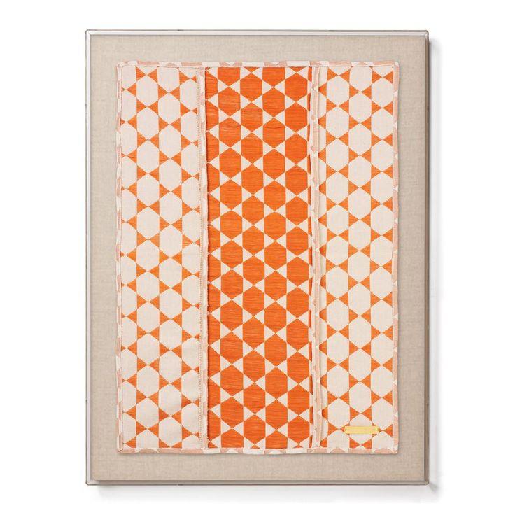 Biddew Orange   Statement Framed Textile. Webtechniken ...