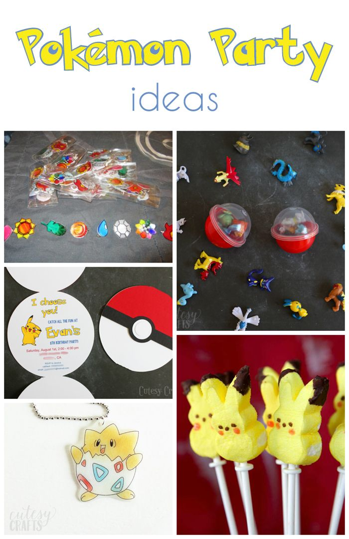 Great Pokemon party games for your next birthday party! The kids will love going on a Pokemon hunt and playing pin the tail on Pikachu!