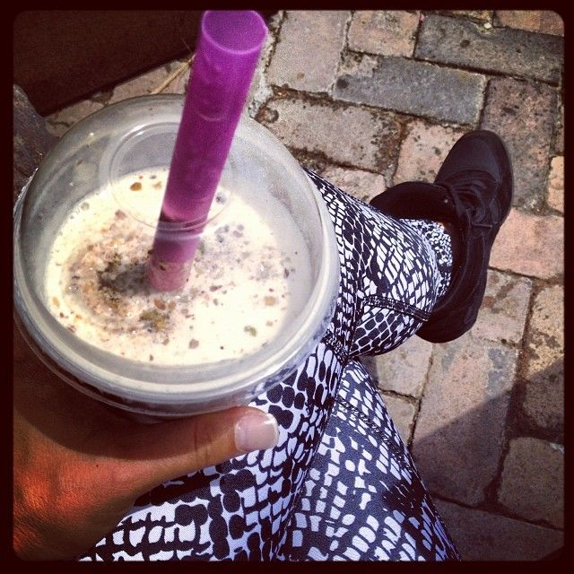 Happiness Is... Taking 10mins of time out on a super busy day to enjoy some sun and a smoothie.