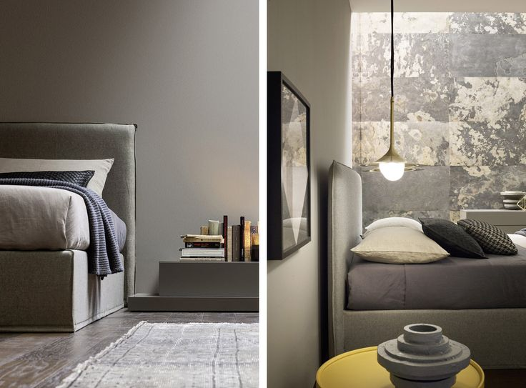A Soft, Sink In Form, A High, Slimline Back: These Are The Distinguishing  Features Of The Twiggy Bed, A Functional Model With A Big Personality.