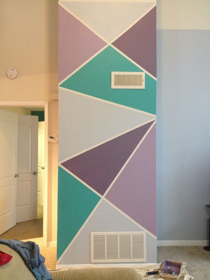 Frog tape fun accent wall