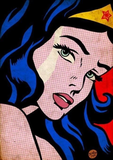 Pôster - Mulher Maravilha - Pop Art