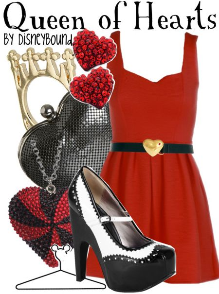 """""""Queen of Hearts"""" from Alice in Wonderland by DisneyBound."""