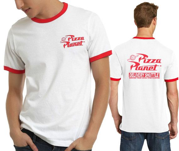 Pizza Planet Disney Toy Story Ringer T-shirt Halloween Costume Cosplay T-shirt 2 side print