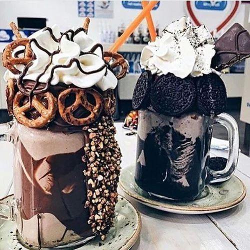 chocolate, good, junkfood, milkshake, oreos