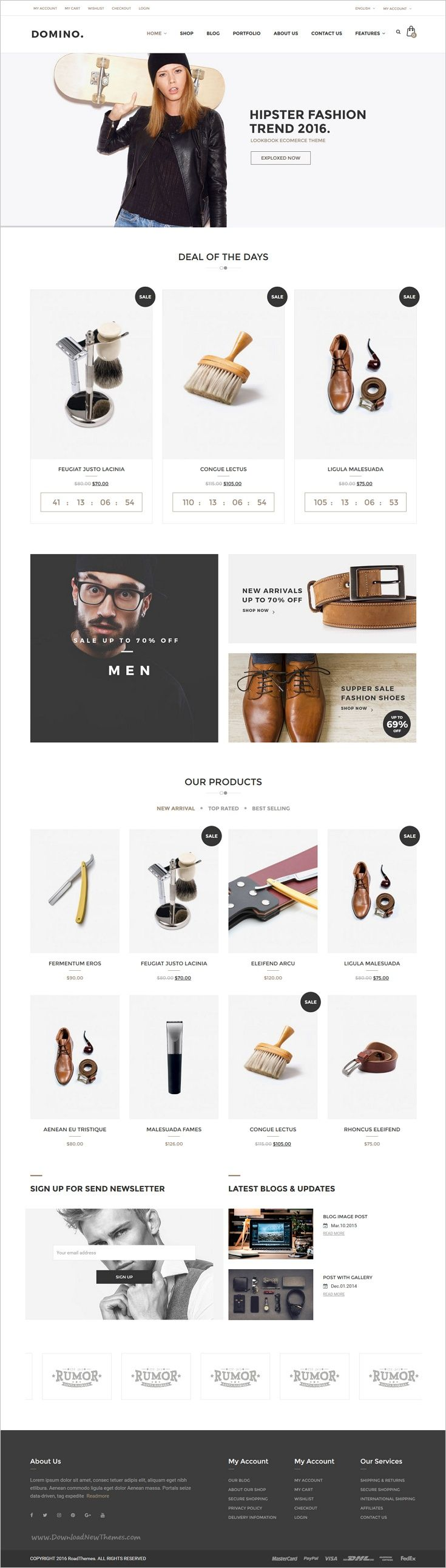 Domino is a wonderful 6in1 responsive #WordPress theme for #webmaster multipurpose eCommerce website download now➩ https://themeforest.net/item/domino-fashion-responsive-wordpress-theme/17908571?ref=Datasata