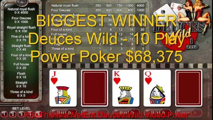 BIG Casino Winners 30th Nov 2014 Deuces Wild 68,375