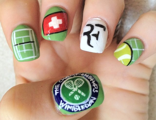 10 best tennis nails images on pinterest cute nails nail art wimbledon nails prinsesfo Choice Image
