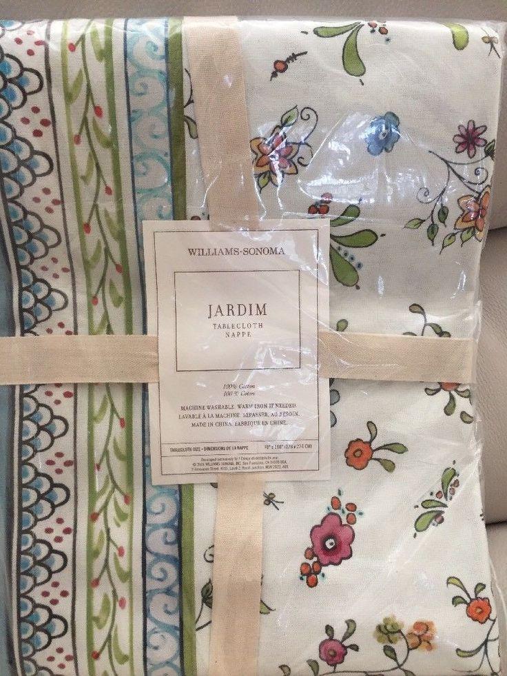 "Williams Somona Jardim Tablecloth. Size - 70 X 108"". Great for Spring! Floral design! | eBay!"