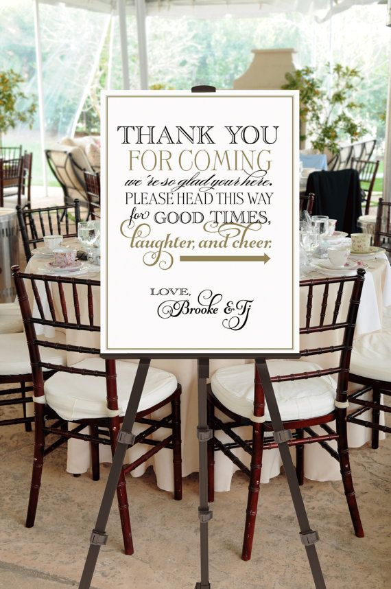 Printable Vintage Wedding Welcome Sign Thank You -- Calligraphy Script -- pompdesigns