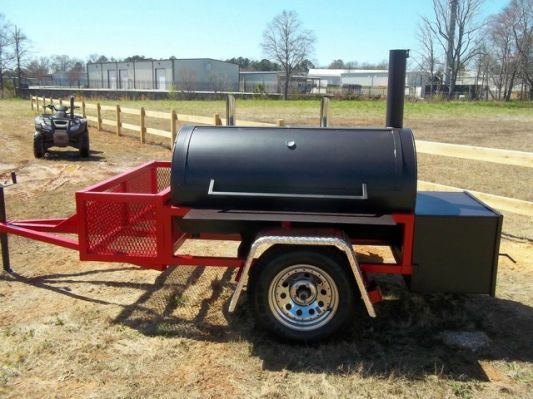 "... BBQ Trailer Smoker - ""The Tailgater"""