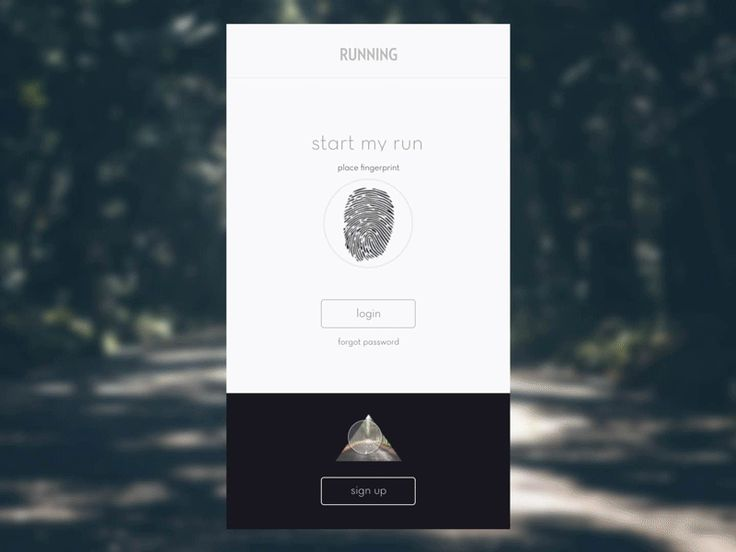 Running App - Sign Up by Melissa Wong
