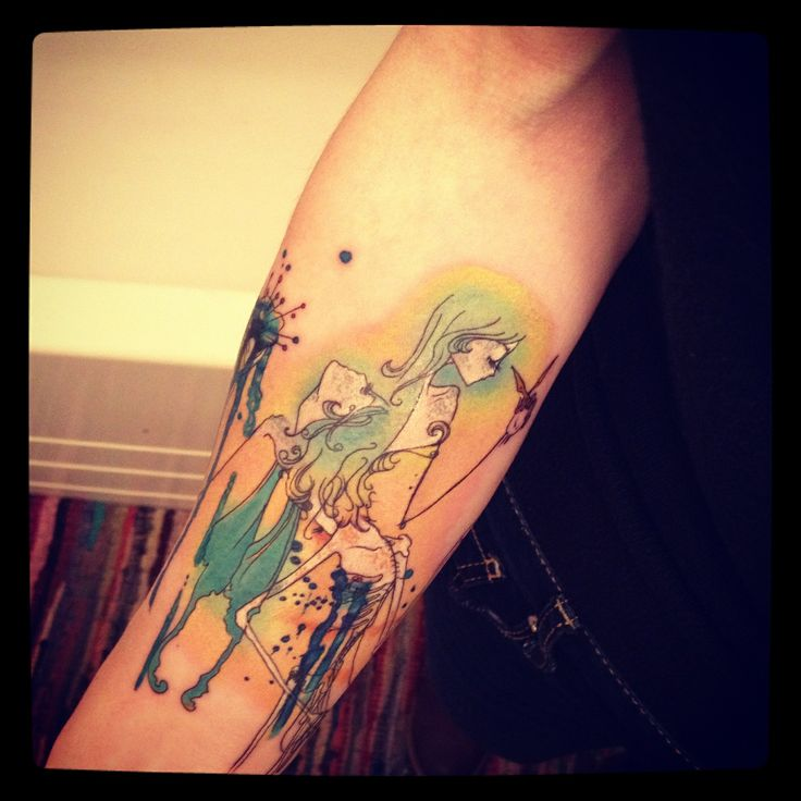 Abstract tattoo anxiety attacks anxiety attacks