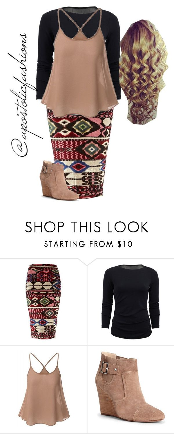 """""""Apostolic Fashions #1323"""" by apostolicfashions on Polyvore featuring River Island, Nicole Miller and Sole Society"""