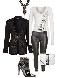Schwarz-weißes Outfit für besondere Anlässe - Ein schwarz-weißes Outfit für die Freizeit, das passende Parfüm, Mode, Trends und schöne Accessoires finden.