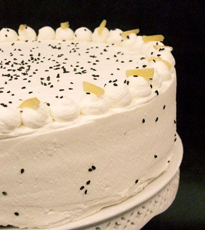 1000+ images about Black Sesame Cakes on Pinterest | Cakes, Cream ...