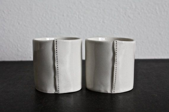 2 mini cups. by raedunn on Etsy: Tea Time, Rae Dunn