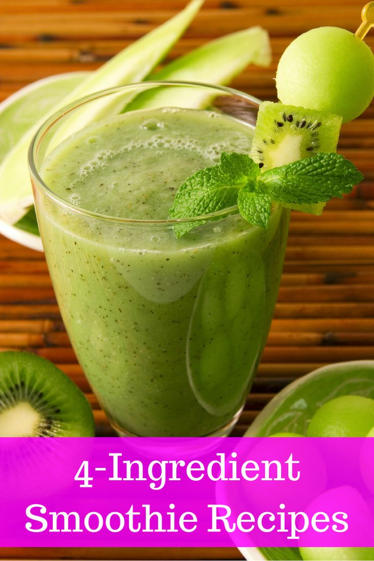 Fruit and Veggie Smoothies - 4 ingredients only!