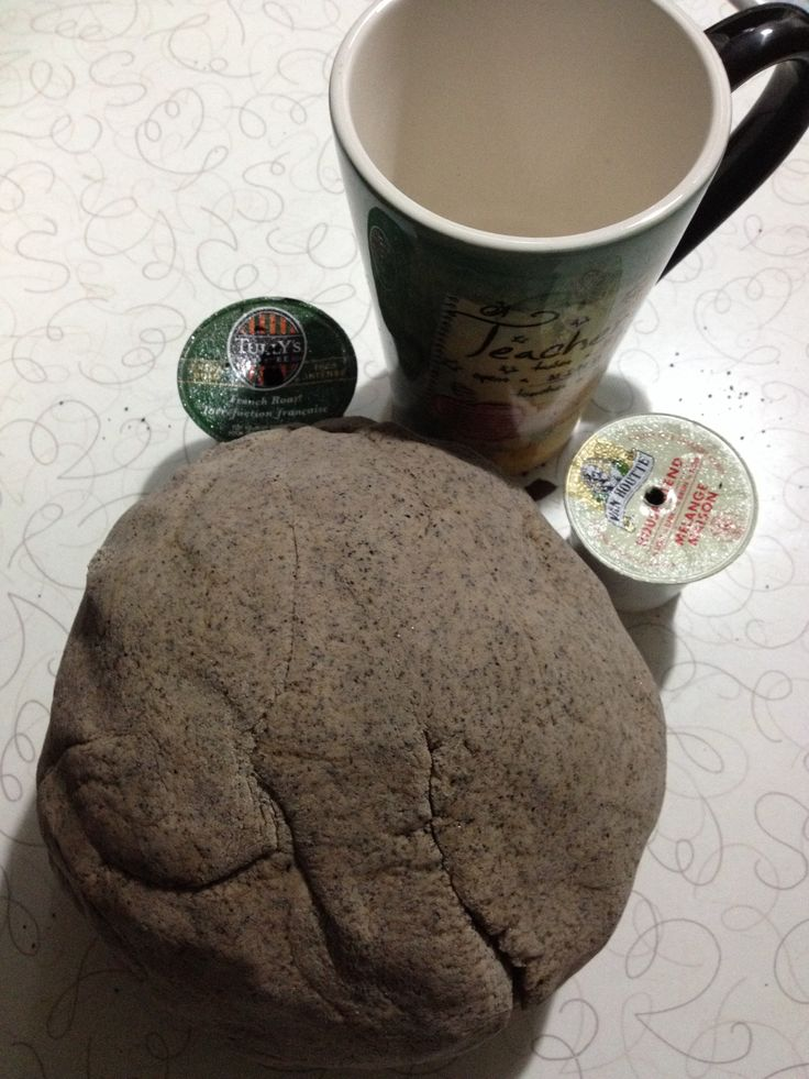 1/2 cup of coffee grounds 2 cups flour 1 cup salt 2