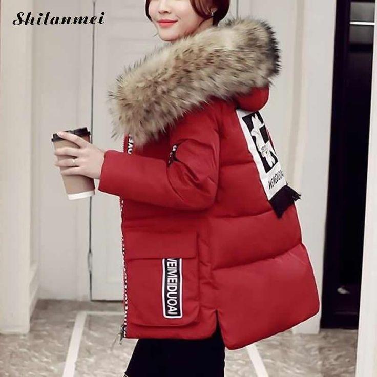 2017 Plus Size Women Warm Winter Collection Down Coat Jacket with Fur Hoodies Woman Parkas Female Overcoat Cotton Outerwear #Affiliate