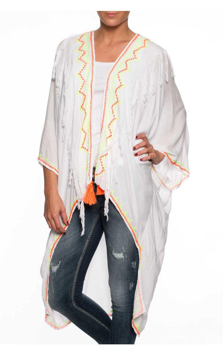 Cape Maya Coat WHITE - Designers - Raglady