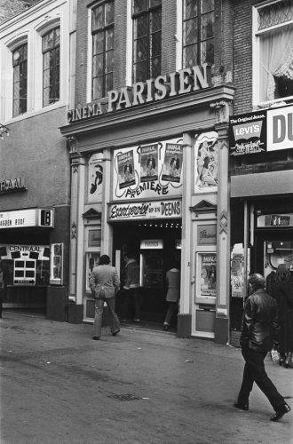 1970's. Cinema Parisien, Nieuwendijk 69, 1910-1986. #amsterdam #1970…