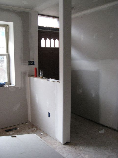 Half Wall With Column In 2019 Home Half Walls Room