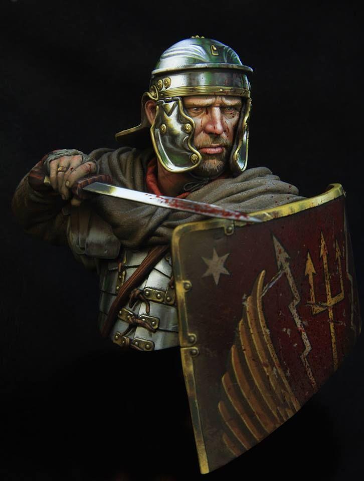 Roman legionairy 1.c 110 boxart for Young miniatures by Kirill Vladimirovich Kanaev
