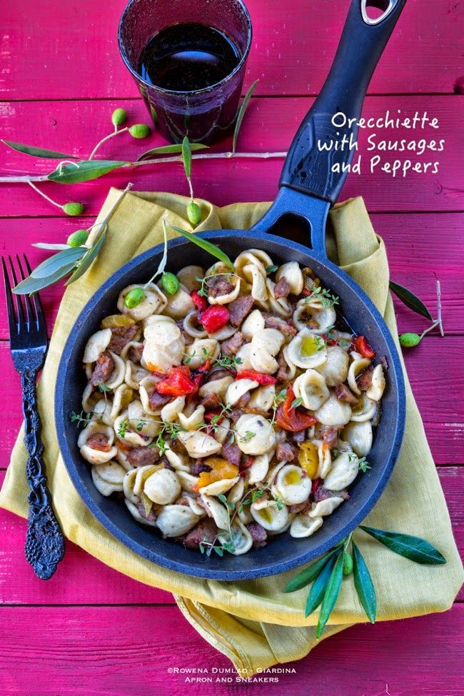 Apron and Sneakers - Cooking & Traveling in Italy and Beyond: Orecchiette with Sausages and Peppers