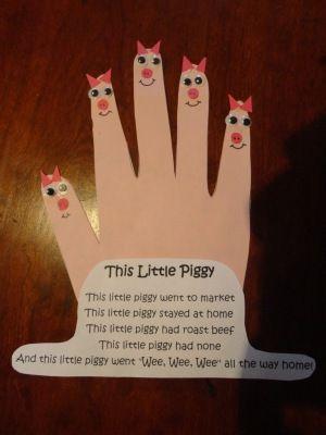 preschool nursery rhyme art | How to make your This Little Piggy Nursery Rhyme…