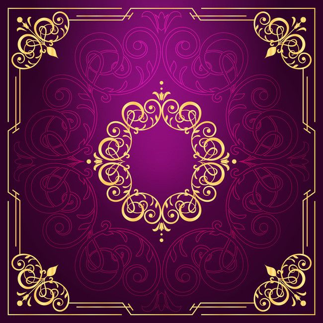 Golden Frame With Purple Background Vector 01 Purple Background Purple Golden Frame Backg Gold Wallpaper Background Purple Background Images Purple Backgrounds