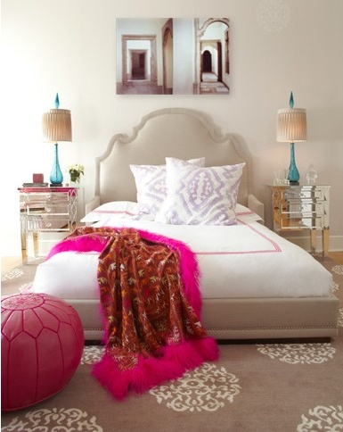 Bed,lamps,pouf,nightstands... Like