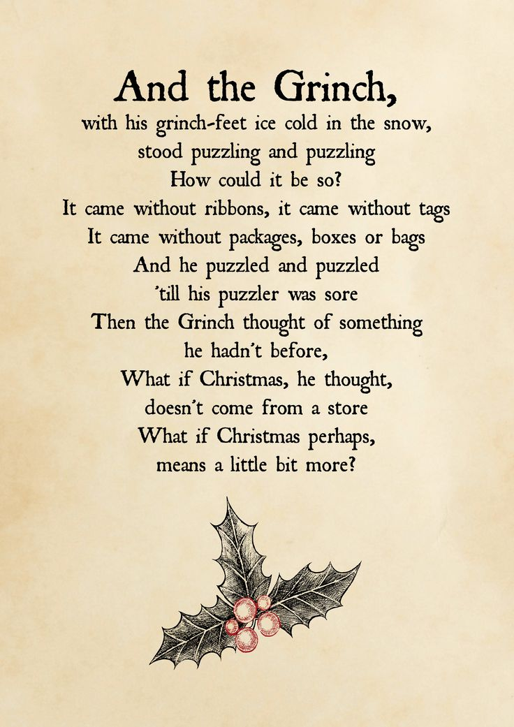 The Grinch quote Christmas Printable