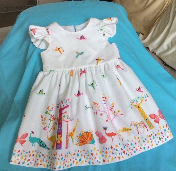 Toddlers girls designer's dress Michael Miller by The3nicas