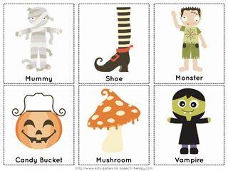 Speechie Freebies: Halloween Vocabulary Cards