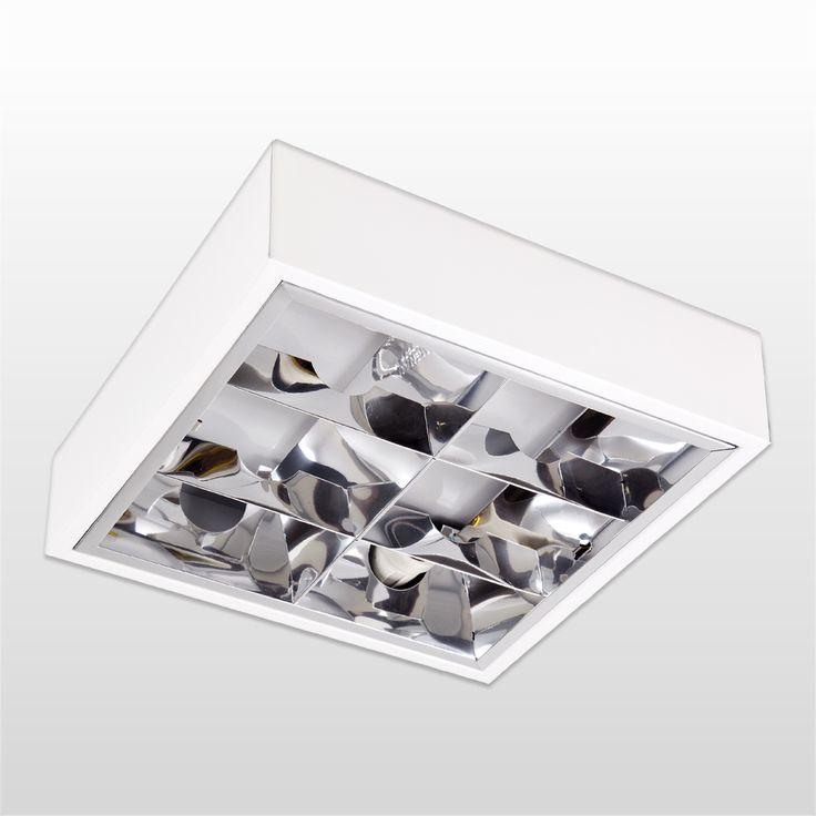 Luminária De Teto Blumenau E27 2x60w De Sobrepor Com Aleta De Alto Rendimento - CasaShow