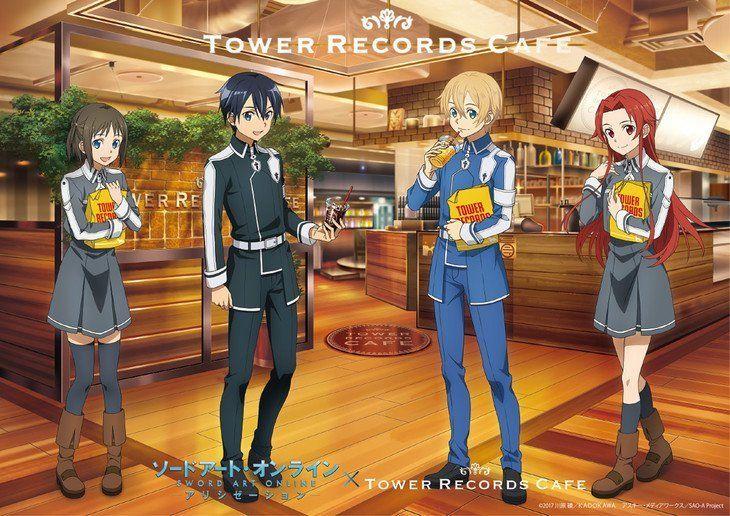 Los Personajes De Sword Art Online Alicization Cobran Vida En Las Cafeterías De Japón Sword Art Online Personajes De Anime Personajes De Naruto