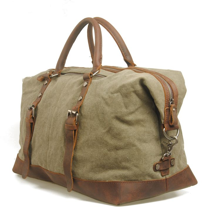 40 best Canvas Bag with Leather images on Pinterest