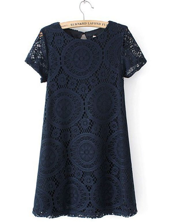 This pretty dress is dark blue I'm usually not into dark blue but, this just looks so pretty!