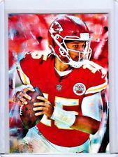 88a21ce37 2018 Patrick Mahomes Kansas City Chiefs 1 1 ACEO Art Sketch Print Card By Q