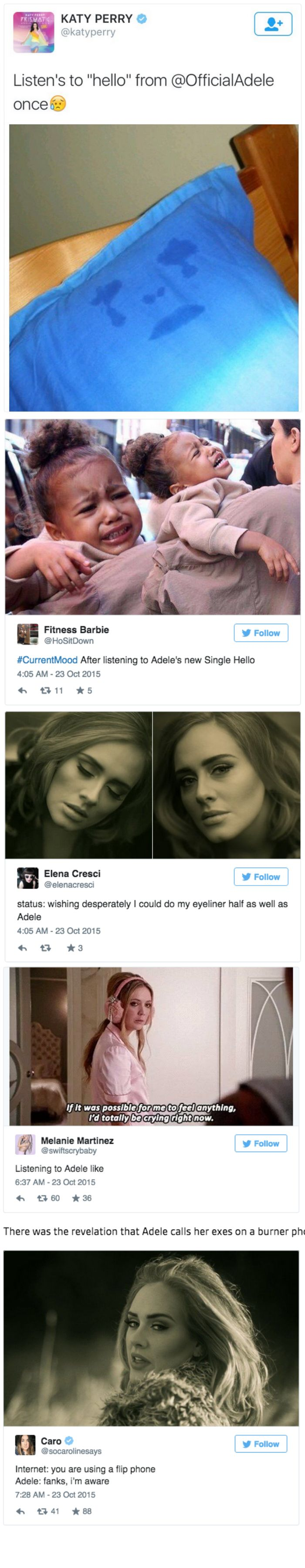 Adele Releases a New Video, 'Hello' and the Twitter Fired Up the Meme-Reply Machine in Record Time